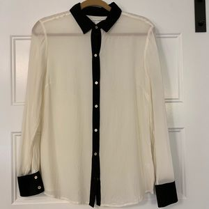 BR Silk Blouse with Gold Buttons